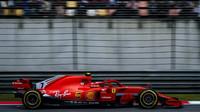 Kimi Räikkönen v závodě v Číně