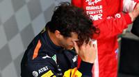 Daniel Ricciardo se velmi těšil ze svého vítězství v závodě v Číně