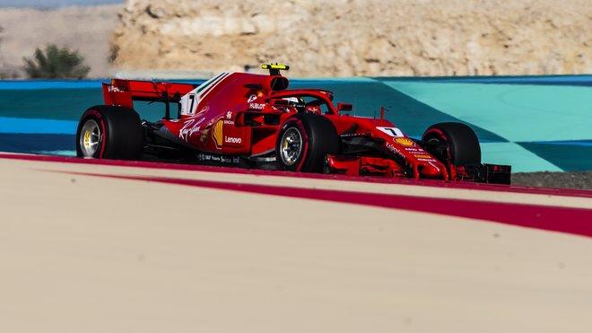 Kimi Räikkönen v Bahrajnu