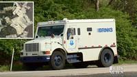 Dodávka bezpečnostní agentury rozsypala po dálnici několik tisíc dolarů