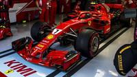 Kimi Räikkönen v tréninku ve Španělsku