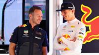 Christian Horner a Max Verstappen v tréninku ve Španělsku