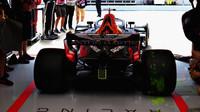 Daniel Ricciardo a Flow-vis v tréninku ve Španělsku