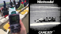 Tim Binnion si zvolil k zachycení závodů Formule 1 skutečně nezvyklý přístroj (zdroj: Instagram/Tim Binnion)
