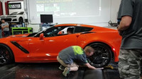 Měření výkonu nadupaného Chevroletu Corvette ZR1 málem skončilo tragédií