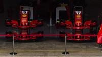 Přední křídla pro vozy Ferrari před kvalifikací ve Španělsku