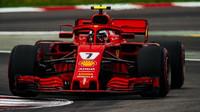 KImi Räikkönen v kvalifikaci ve Španělsku