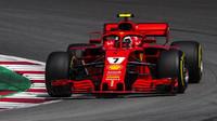 Kimi Räikkönen v závodě ve Španělsku