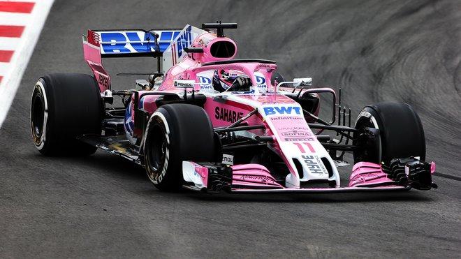 Sergio Pérez výrazně předčil Estebana Ocona s druhou Force Indií