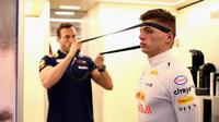 Max Verstappen před kvalifikací ve Španělsku
