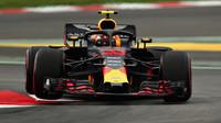 Max Verstappen v kvalifikaci ve Španělsku