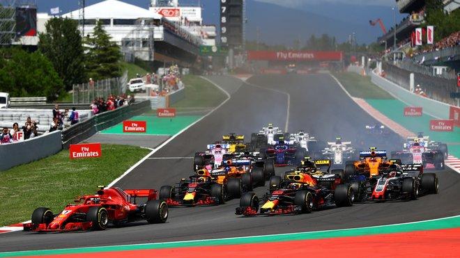 Start závodu ve Španělsku