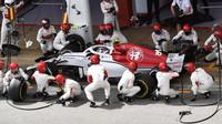 Charles Leclerc v závodě ve Španělsku