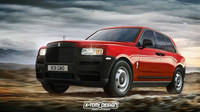 Rolls-Royce Cullinan v úpravách X-Tomi Design: Základní varianta s nelakovanými nárazníky a zrcátky, základními světlomety a plechovými disky