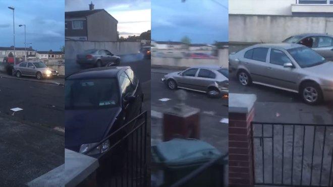 Irský gang předvedl v ulicích Dublinu děsivou show s kradenými automobily