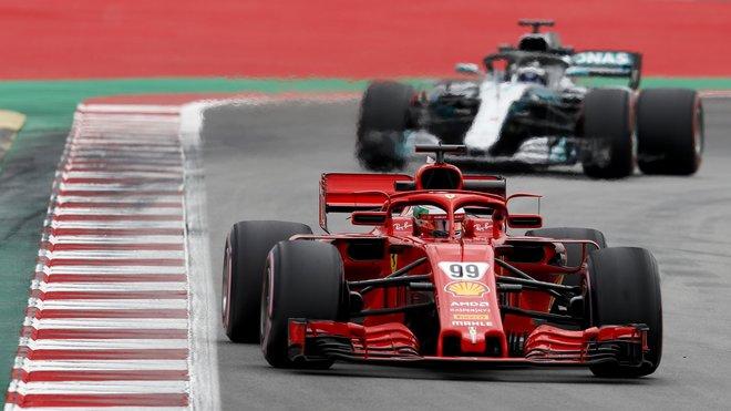 Antonio Giovinazzi s Ferrari SF71H