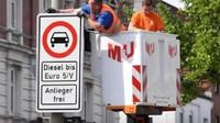 Ulice Hamburgu lemují nové značky zakazující vjezd vozidel s dieselovými motory