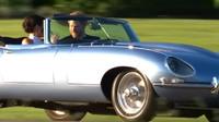 Nejlepší část královské svatby? Rozhodně tento elektrický Jaguar E-Type - anotační foto