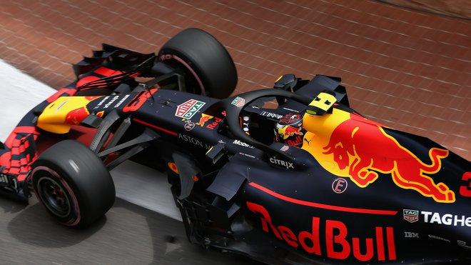 Max Verstappen s Red Bullem v Monaku