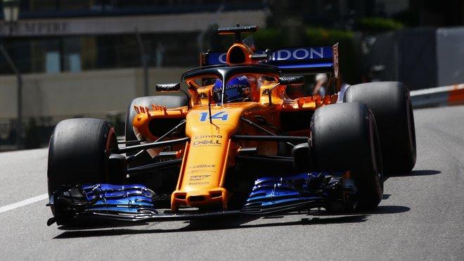 Fernando Alonso v Monaku postoupil podruhé za sebou do Q3, jeho ztráta na Red Bull ale byla obrovská