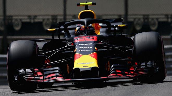Max Verstappen v sobotním tréninku krátce před svou havárií