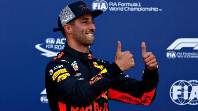 Daniel Ricciardo po úspěsné kvalifikaci v Monaku