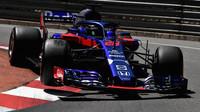 Brendon Hartley v kvalifikaci v Monaku