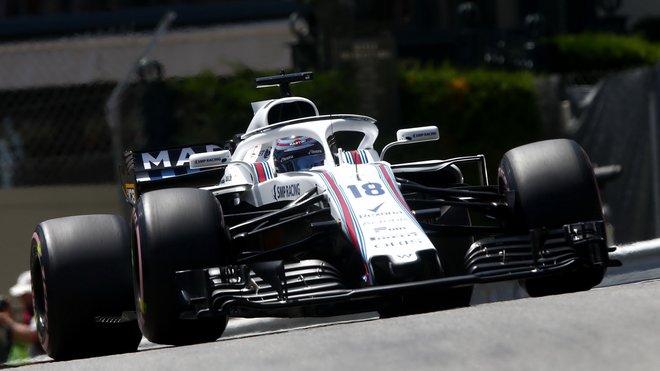 Lance Stroll s Williamsem FW41 v Monaku