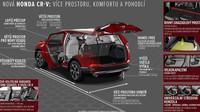 Nová Honda CR-V nabízí více prostoru, komfortu i nových technologií
