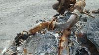 Požár udělal z Fordu GT jen hromádku popela