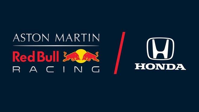 Loga Red Bull a Hondy po oznámení vzájemné spolupráce