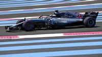 Lewis Hamilton slaví pole position v Paul Ricard