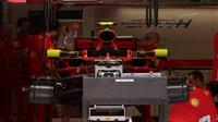 Přípravy na voze Ferrari v Rakousku