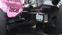 Detail výfuku a difuzoru vozu Force India v Rakousku