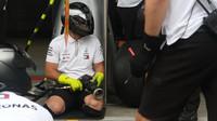 Mechanici týmu Mercerces tréninují výměnu pneumatik v Rakousku