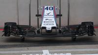 Detail předního křídla vozu Williams v Rakousku