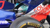 Detail zadního křídla vozu Toro Rosso v Rakousku