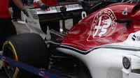Detail zadní části vozu Sauber v Rakousku