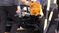 Detail difuzoru vozu McLaren v Rakousku