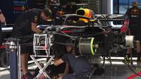 Přípravy Red Bullu na druhý trénink