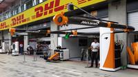 Boxy McLaren v 1.tréninku v Rakousku