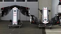 Přední křídla Sauber v 1.tréninku v Rakousku