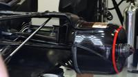 Detail vozu McLaren v 1.tréninku v Rakousku
