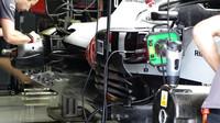 Detail vozu Haas v 1.tréninku v Rakousku