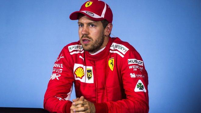 Sebastian Vettel na tiskovce po kvalifikaci v Rakousku