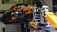 Detailní pohled na podlahu McLarenu v Rakousku