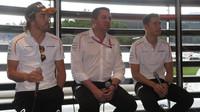 Tiskovka se zástupci týmu McLaren v Rakousku