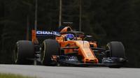 Fernando Alonso v kvalifikaci v Rakousku