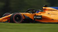 Fernando Alonso s McLarenem MCL33 na Red Bull Ringu