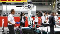 Valtteri Bottas se raduje z vítězství v kvalifikaci v Rakousku